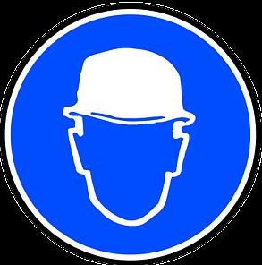 munkavédelem fejvédő tábla