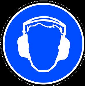munkavédelem hallásvédelem tábla