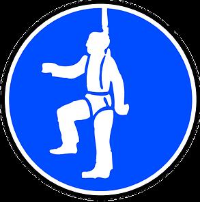 munkavédelem zuhanásgátló tábla 3